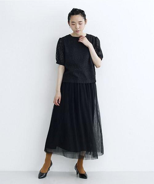 merlot(メルロー)/【plus】チュールプリーツスカート/00010012-879230008448_img09