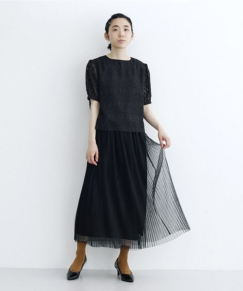 merlot(メルロー)/【plus】チュールプリーツスカート/00010012-879230008448_img10