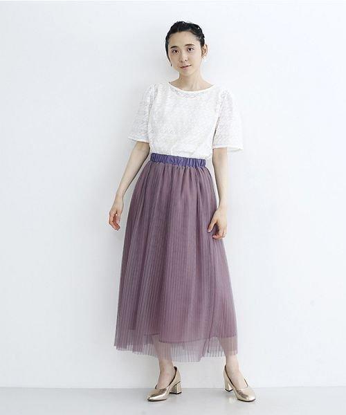 merlot(メルロー)/【plus】チュールプリーツスカート/00010012-879230008448_img11