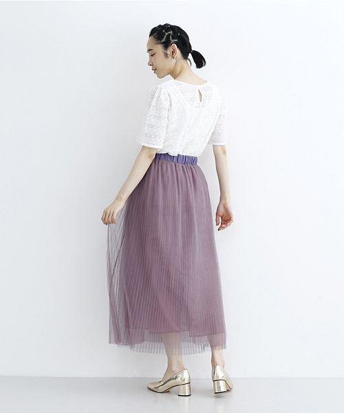 merlot(メルロー)/【plus】チュールプリーツスカート/00010012-879230008448_img12