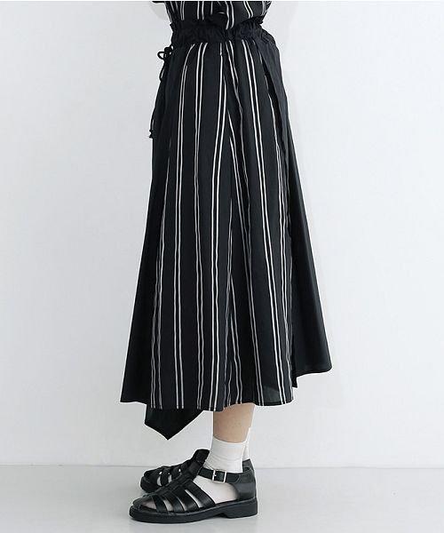 merlot(メルロー)/ストライプ柄配色ラップスカート/00010012-879230008468_img02