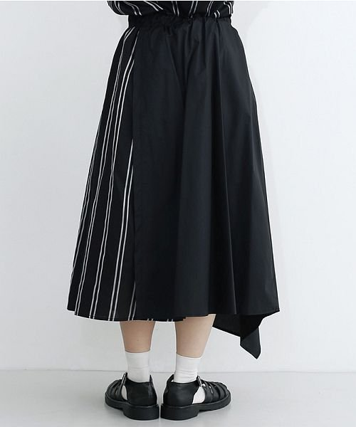 merlot(メルロー)/ストライプ柄配色ラップスカート/00010012-879230008468_img03