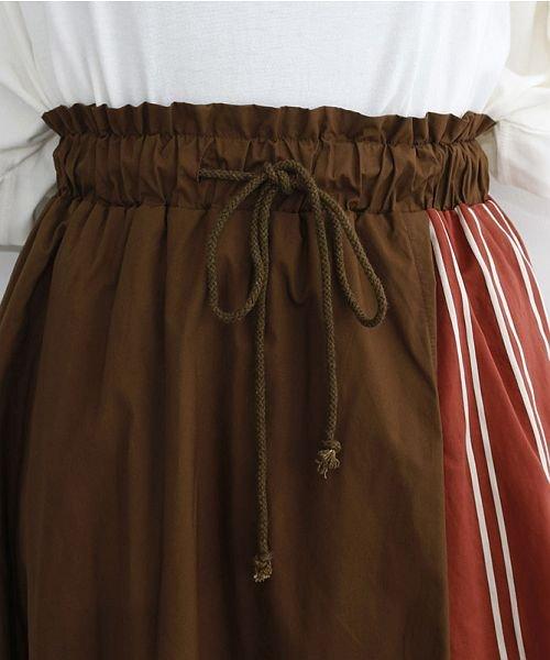 merlot(メルロー)/ストライプ柄配色ラップスカート/00010012-879230008468_img04