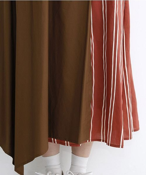 merlot(メルロー)/ストライプ柄配色ラップスカート/00010012-879230008468_img05