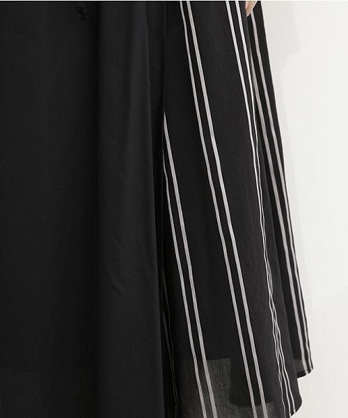 merlot(メルロー)/ストライプ柄配色ラップスカート/00010012-879230008468_img09
