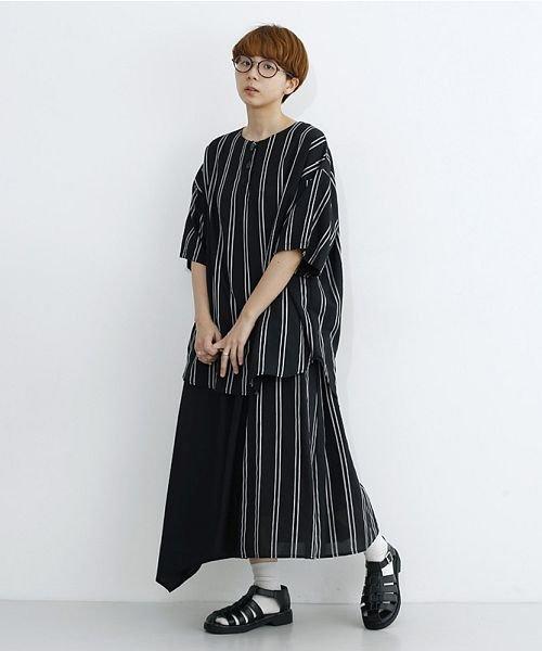 merlot(メルロー)/ストライプ柄配色ラップスカート/00010012-879230008468_img11
