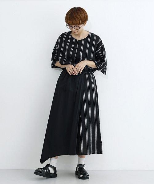 merlot(メルロー)/ストライプ柄配色ラップスカート/00010012-879230008468_img12