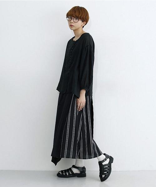 merlot(メルロー)/ストライプ柄配色ラップスカート/00010012-879230008468_img13