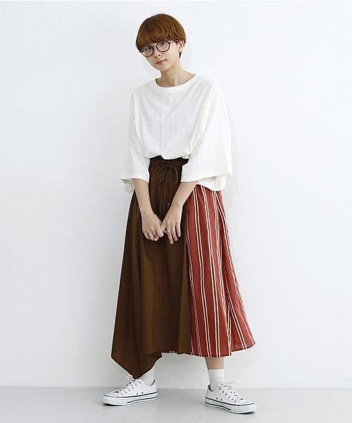 merlot(メルロー)/ストライプ柄配色ラップスカート/00010012-879230008468_img17