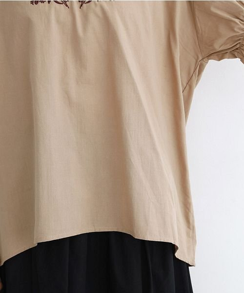 merlot(メルロー)/「稲穂の実り」刺繍ギャザースリーブブラウス/00010012-879230018489_img06