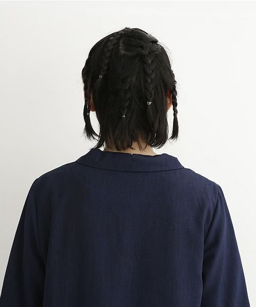 merlot(メルロー)/【plus】ショールカラー斜めボタンタックワンピース/00010012-879240008528_img09