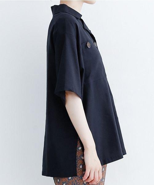 merlot(メルロー)/コットンリネンビックポケット開衿シャツ/00010012-879610018547_img02