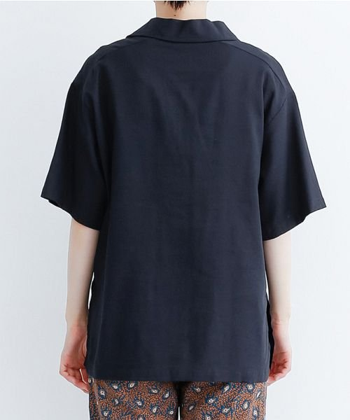 merlot(メルロー)/コットンリネンビックポケット開衿シャツ/00010012-879610018547_img03