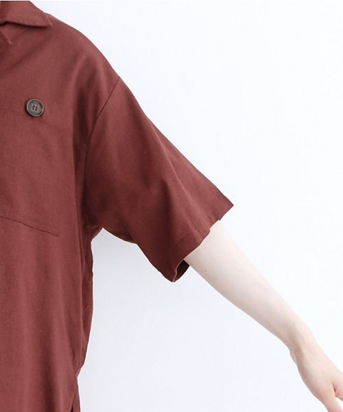 merlot(メルロー)/コットンリネンビックポケット開衿シャツ/00010012-879610018547_img05