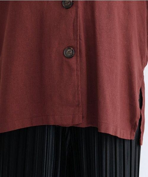 merlot(メルロー)/コットンリネンビックポケット開衿シャツ/00010012-879610018547_img06