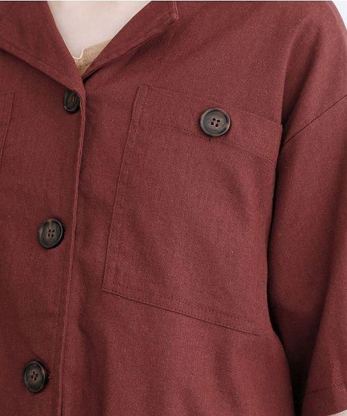 merlot(メルロー)/コットンリネンビックポケット開衿シャツ/00010012-879610018547_img07
