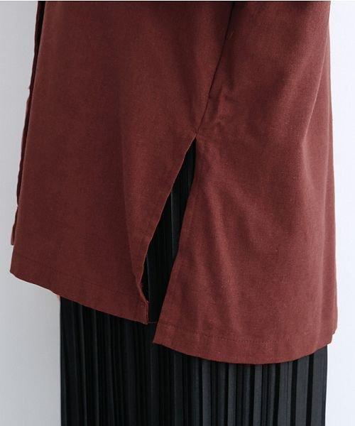 merlot(メルロー)/コットンリネンビックポケット開衿シャツ/00010012-879610018547_img08