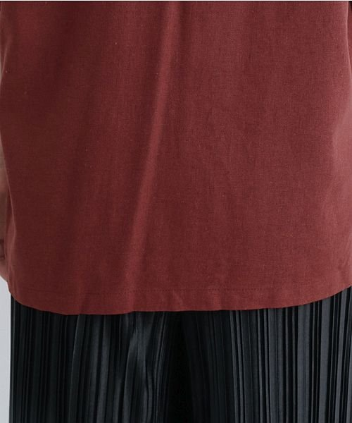 merlot(メルロー)/コットンリネンビックポケット開衿シャツ/00010012-879610018547_img10