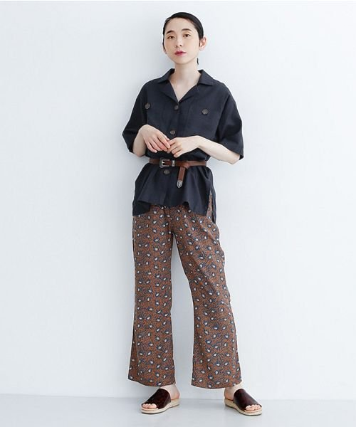 merlot(メルロー)/コットンリネンビックポケット開衿シャツ/00010012-879610018547_img11