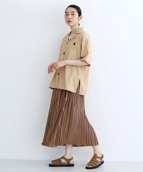 merlot(メルロー)/コットンリネンビックポケット開衿シャツ/00010012-879610018547_img12