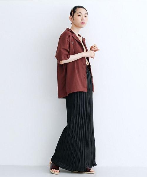merlot(メルロー)/コットンリネンビックポケット開衿シャツ/00010012-879610018547_img16