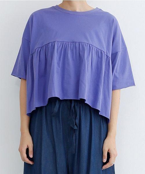 merlot(メルロー)/カットオフギャザーTシャツ/00010012-939110032884_img01