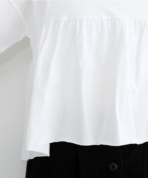 merlot(メルロー)/カットオフギャザーTシャツ/00010012-939110032884_img05