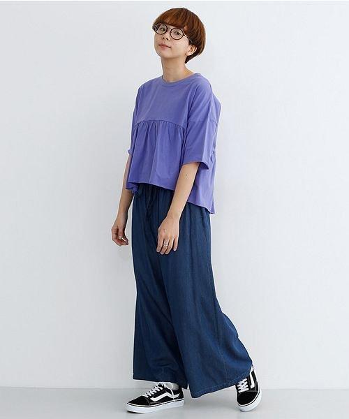 merlot(メルロー)/カットオフギャザーTシャツ/00010012-939110032884_img10