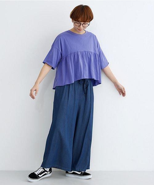 merlot(メルロー)/カットオフギャザーTシャツ/00010012-939110032884_img11