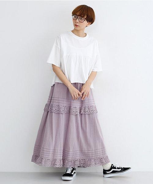 merlot(メルロー)/カットオフギャザーTシャツ/00010012-939110032884_img14