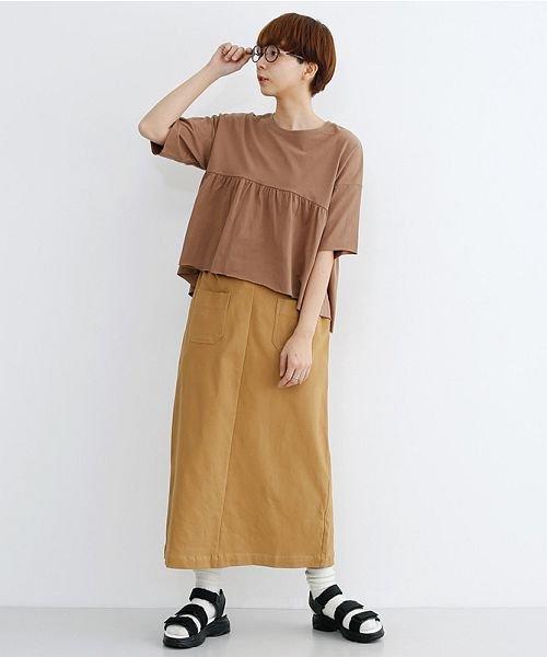 merlot(メルロー)/カットオフギャザーTシャツ/00010012-939110032884_img15