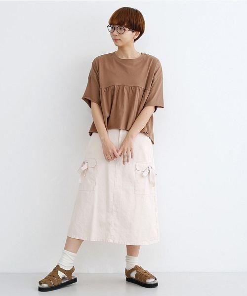 merlot(メルロー)/カットオフギャザーTシャツ/00010012-939110032884_img16