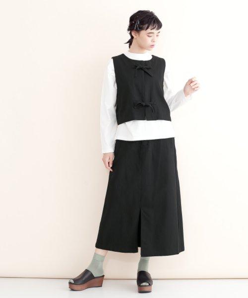 merlot(メルロー)/【IKYU】バックリボンIラインスカート/00010012-939130062865_img02