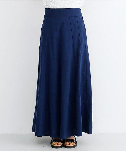 merlot(メルロー)/コットンリネンマーメードスカート/00010012-939130112869_img01