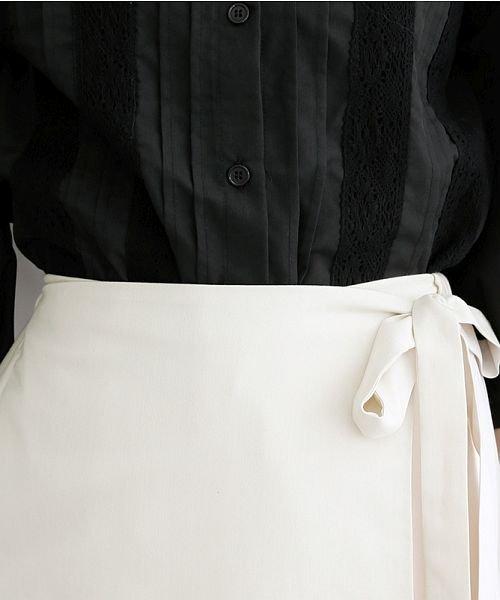 merlot(メルロー)/【plus】サイドプリーツラップワイドパンツ/00010012-939210062957_img04