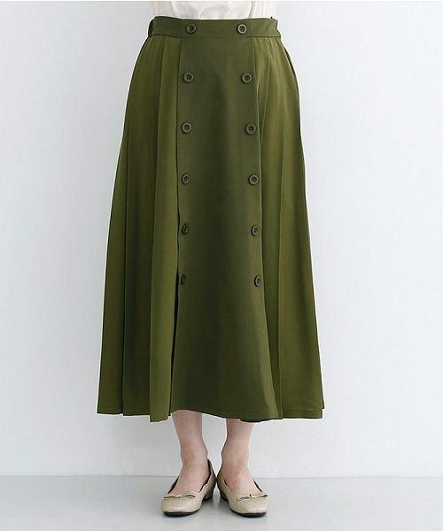 merlot(メルロー)/【plus】フロントダブルボタンプリーツスカート/00010012-939210062958_img01
