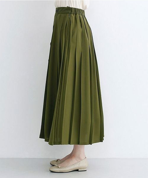 merlot(メルロー)/【plus】フロントダブルボタンプリーツスカート/00010012-939210062958_img02