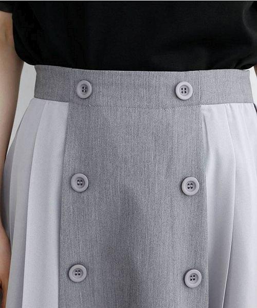 merlot(メルロー)/【plus】フロントダブルボタンプリーツスカート/00010012-939210062958_img05