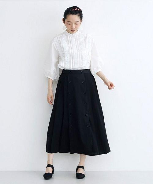 merlot(メルロー)/【plus】フロントダブルボタンプリーツスカート/00010012-939210062958_img09