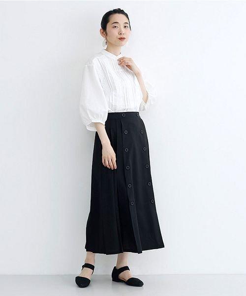 merlot(メルロー)/【plus】フロントダブルボタンプリーツスカート/00010012-939210062958_img10