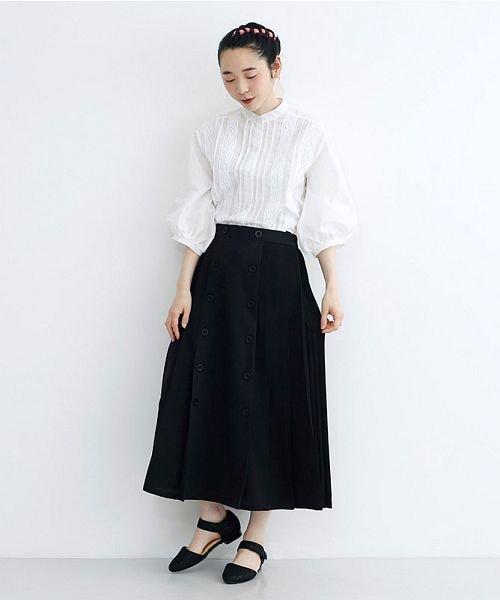 merlot(メルロー)/【plus】フロントダブルボタンプリーツスカート/00010012-939210062958_img11