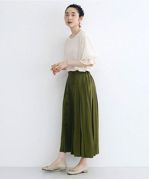 merlot(メルロー)/【plus】フロントダブルボタンプリーツスカート/00010012-939210062958_img12