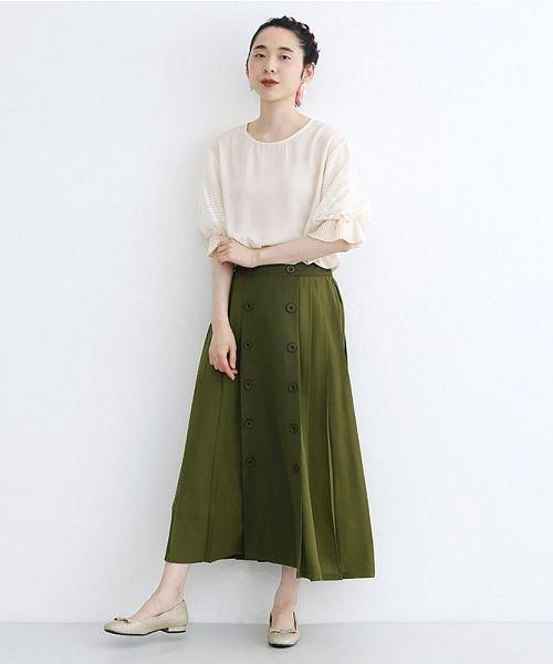 merlot(メルロー)/【plus】フロントダブルボタンプリーツスカート/00010012-939210062958_img14