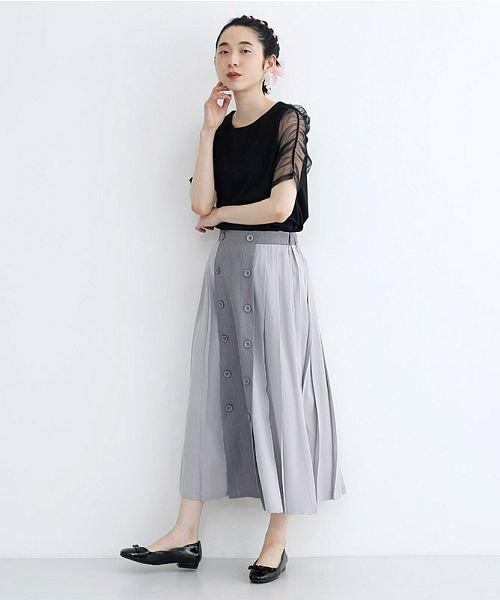 merlot(メルロー)/【plus】フロントダブルボタンプリーツスカート/00010012-939210062958_img15