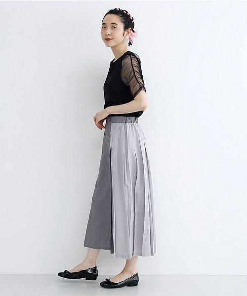merlot(メルロー)/【plus】フロントダブルボタンプリーツスカート/00010012-939210062958_img16