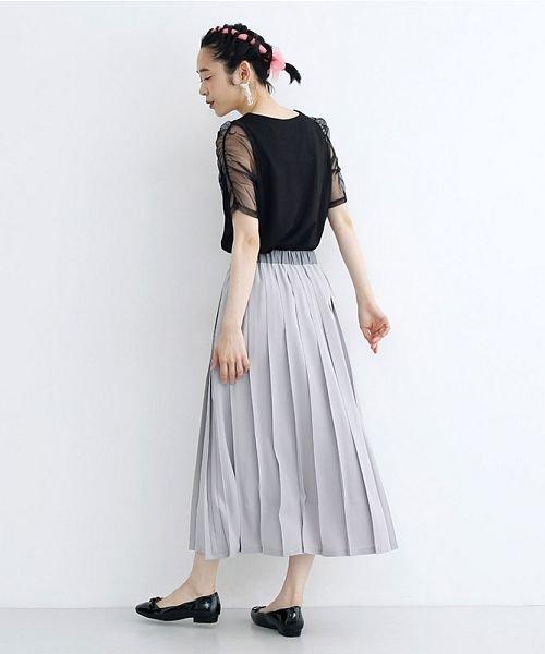 merlot(メルロー)/【plus】フロントダブルボタンプリーツスカート/00010012-939210062958_img17