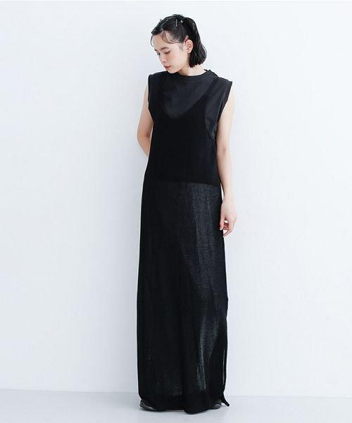 merlot(メルロー)/【IKYU】ニットキャミロングワンピース/00010012-939210123082_img11