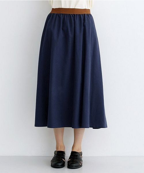 merlot(メルロー)/【IKYU】コットンリネンバイカラーギャザースカート/00010012-939210143081_img01
