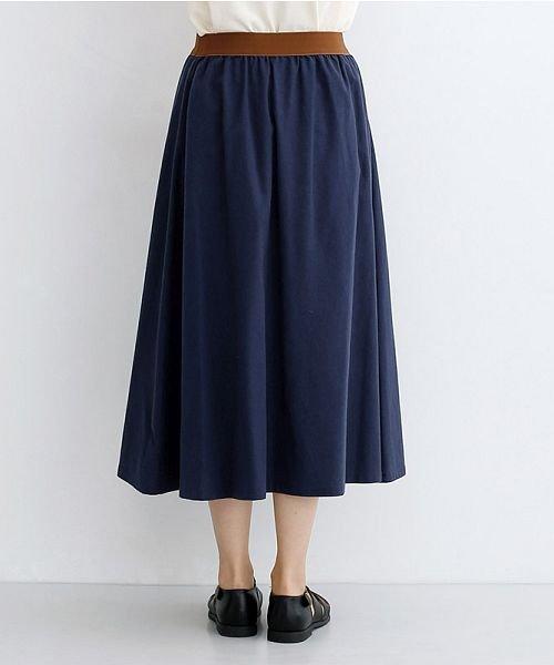 merlot(メルロー)/【IKYU】コットンリネンバイカラーギャザースカート/00010012-939210143081_img03