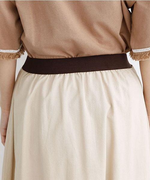 merlot(メルロー)/【IKYU】コットンリネンバイカラーギャザースカート/00010012-939210143081_img07